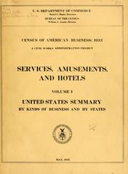 Census of American business: 1933 by United States. Bureau of the Census