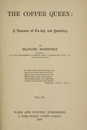 Cover of: The copper queen | Blanche Roosevelt