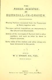 The parish register of Burnsall-in-Craven.