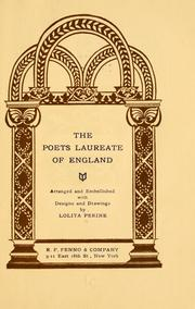 Cover of: The poets laureate of England | Lolita Perine