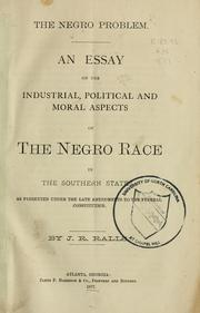 Cover of: The Negro problem |