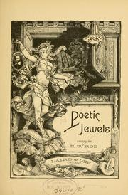 Cover of: Poetic jewels | E. T. Roe