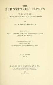 The Bernstorff papers by Karl Ringhoffer