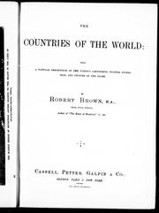 Cover of: The countries of the world |