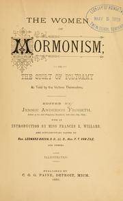 Cover of: women of Mormonism | Jennie Anderson Froiseth