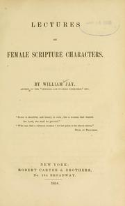 Cover of: Lectures on female Scripture characters