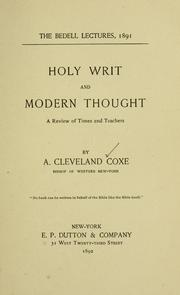 Cover of: Holy writ and modern thought | A. Cleveland Coxe