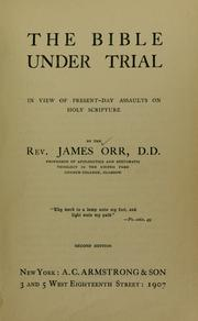 Cover of: The Bible under trial