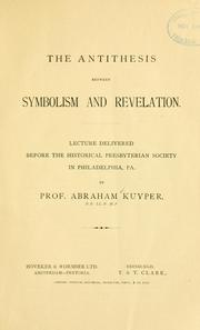 Cover of: The antithesis between symbolism and revelation
