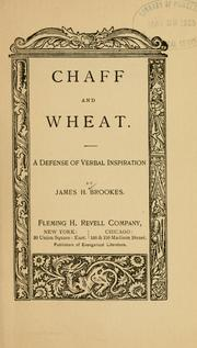 Cover of: Chaff and wheat