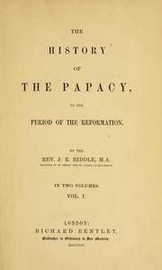 Cover of: The history of the papacy: to the period of the Reformation.