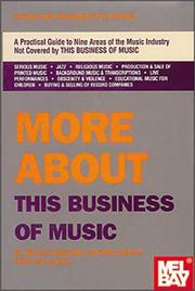 Cover of: More about this business of music