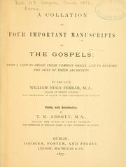 Cover of: A collation of four important manuscripts of the Gospels |