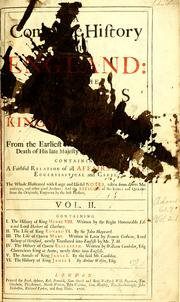 Cover of: A complete history of England |