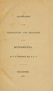 Cover of: Illustrations of the literature and religion of the Buddhists