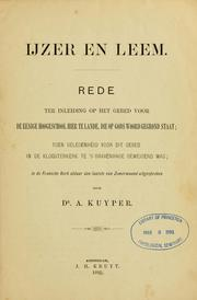 Cover of: Ijzer en leem
