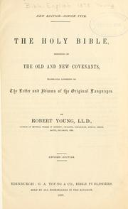 Cover of: The Holy Bible | by Robert Young ...