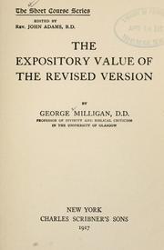Cover of: The expository value of the Revised version