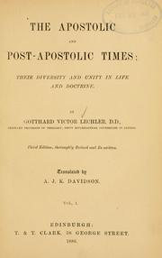 Cover of: The apostolic and post-apostolic times