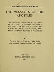 Cover of: The messages of the apostles