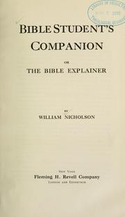Cover of: Bible student's companion