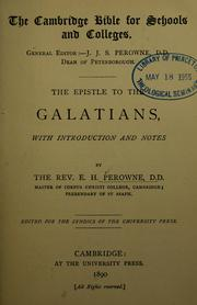 Cover of: The Epistle to the Galatians | Edward Henry Perowne