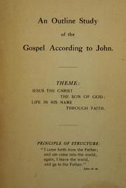 Cover of: outline study of the Gospel according to John | William Jacob Erdman