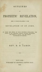Cover of: Outlines of prophetic revelation, being a concise explanation of the Revelation of St. John, in which the design of each chapter is explained