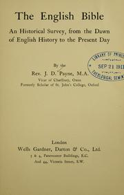 Cover of: English Bible | Julius D. Payne