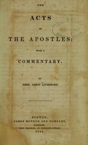 Cover of: Acts of the Apostles | Abiel Abbot Livermore
