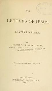 Cover of: The letters of Jesus