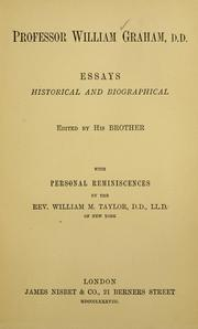 Cover of: Essays historical and biographical