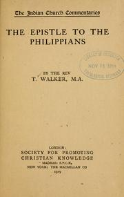 Cover of: The Epistle to the Philippians... by Walker, Thomas