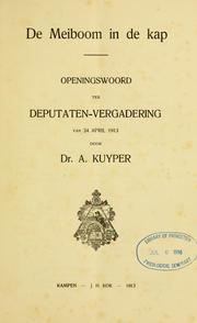 Cover of: De meiborn in de kap