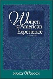 Cover of: Women and the American experience | Nancy Woloch