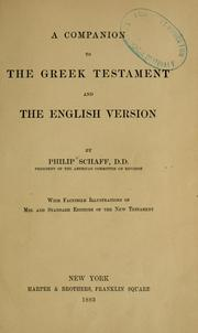 Cover of: A companion to the Greek Testament and the English version