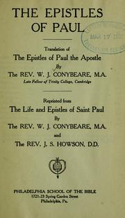 Cover of: The Epistles of Paul