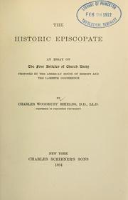 Cover of: historic episcopate | Charles W. Shields