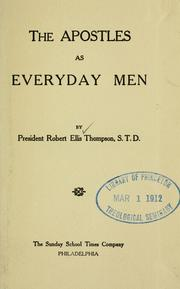 Cover of: The apostles as everyday men