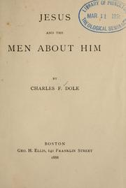 Cover of: Jesus and the men about him
