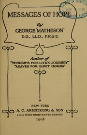 Cover of: Messages of hope | Matheson, George