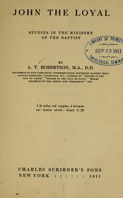 Cover of: John | A. T. Robertson