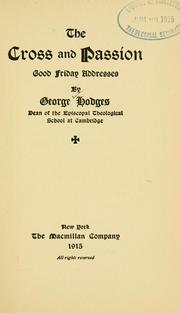 Cover of: The cross and passion