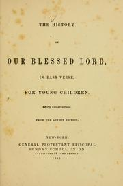 Cover of: The History of our blessed Lord |