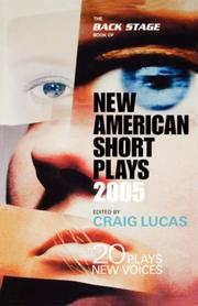 Cover of: The Back Stage Book of New American Short Plays 2004 | Craig Lucas, Mark Glubke