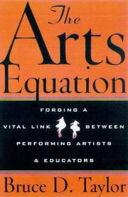 Cover of: arts equation | Bruce D. Taylor