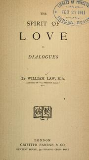 Cover of: The spirit of love in dialogues