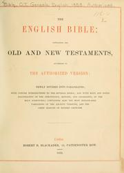 Cover of: The English Bible |
