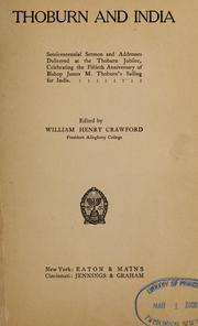 Cover of: Thoburn and India | William Henry Crawford