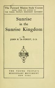 Sunrise in the Sunrise kingdom by John H. DeForest